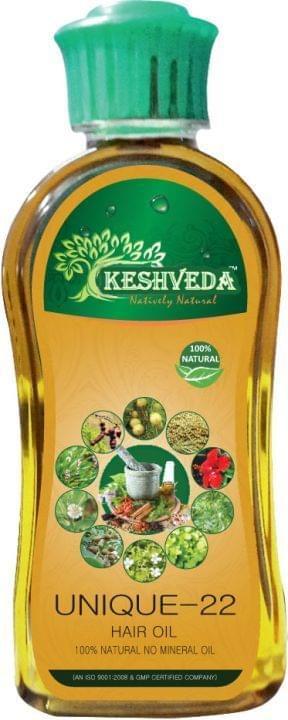 Keshveda Unique-22 Hair Oil (Pack Of 3)
