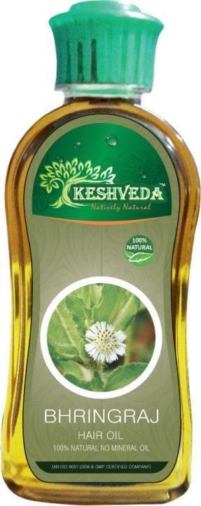 Keshveda Bhringraj Hair Oil (Pack Of 3)