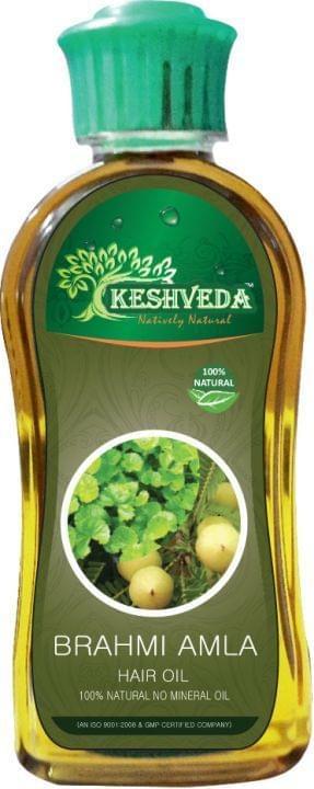 Keshveda Brahmi Amla Hair Oil (Pack Of 3)