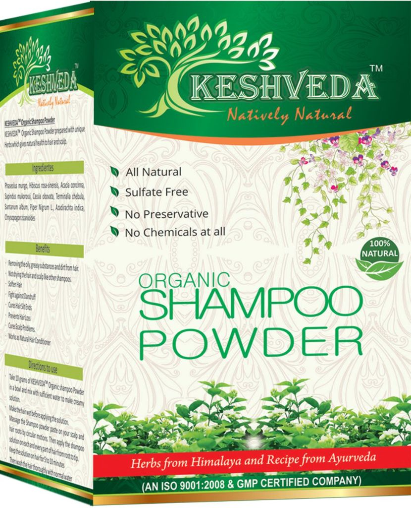Keshveda Organic Shampoo Powder (Pack Of 3)