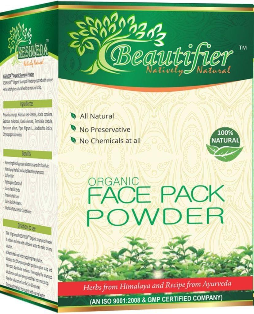 Keshveda Organic Face Pack Powder (Pack Of 3)