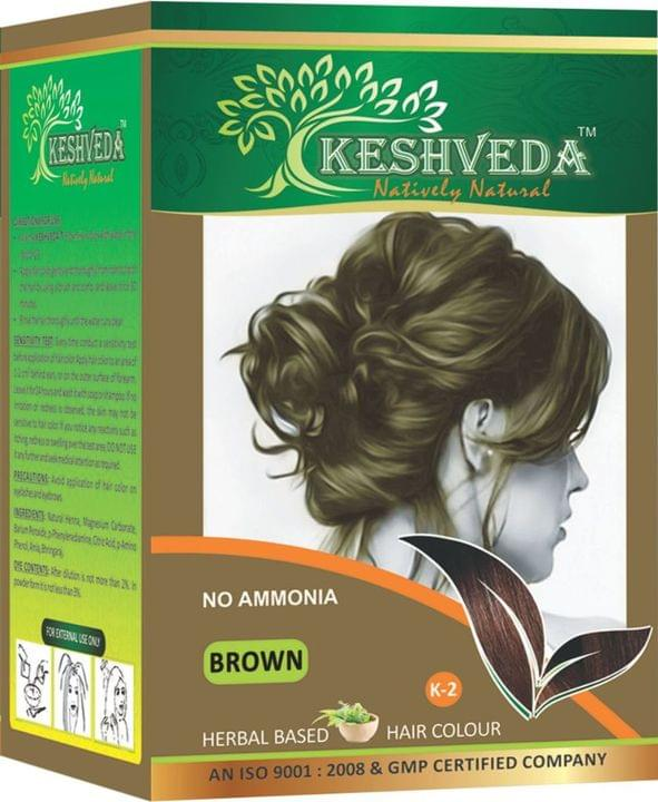 Keshveda Hair Color Brown (Pack Of 3)