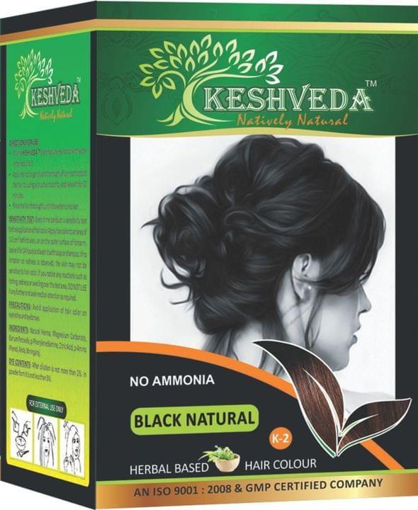 Keshveda Hair Color Black Natural (Pack Of 3)