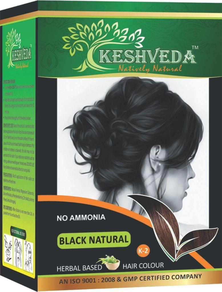 Keshveda Hair Color Black Natural (Pack Of 6)