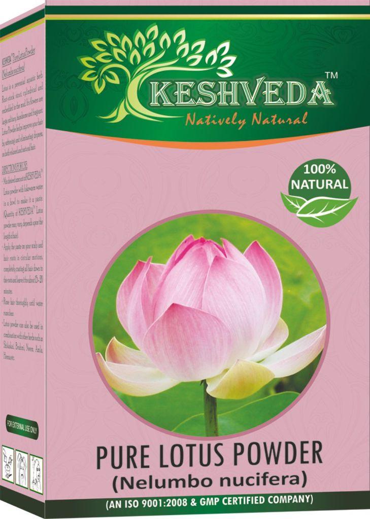 Keshveda Pure Lotus Powder (Pack Of 5)