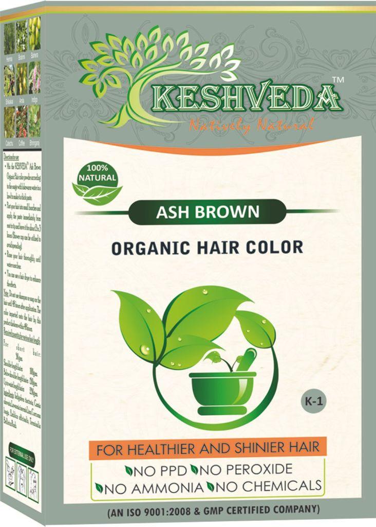Keshveda Organic Hair Color Ash Brown (Pack Of 3)