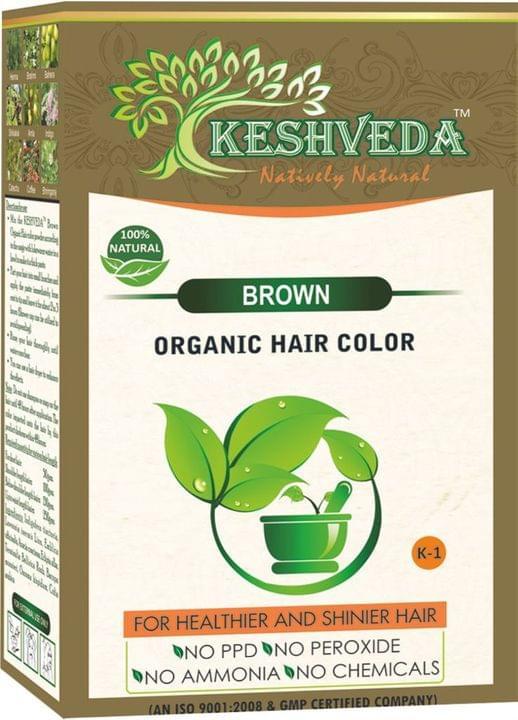 Keshveda Organic Hair Color Brown (Pack Of 3)