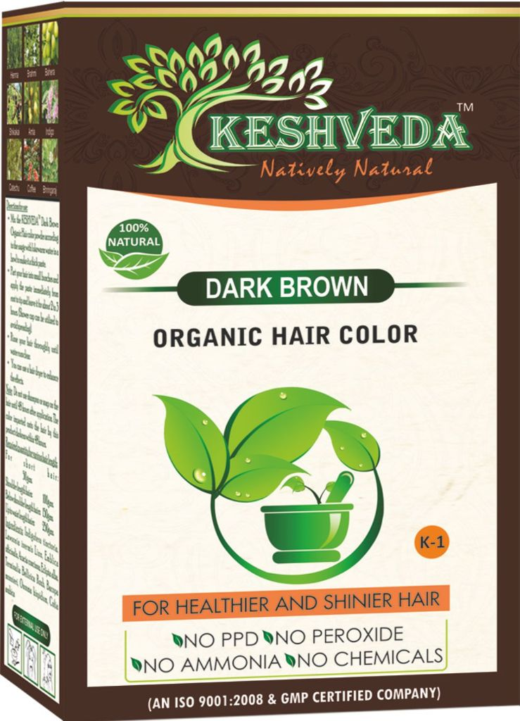 Keshveda Organic Hair Color Dark Brown (Pack Of 3)