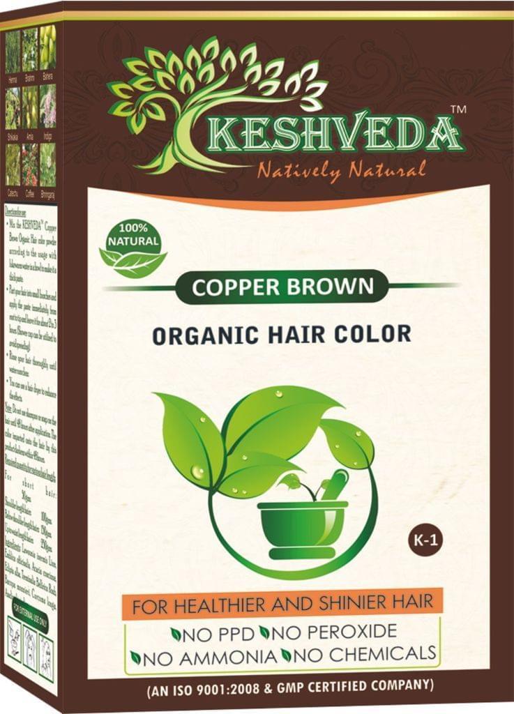 Keshveda Organic Hair Color Copper Brown (Pack Of 3)