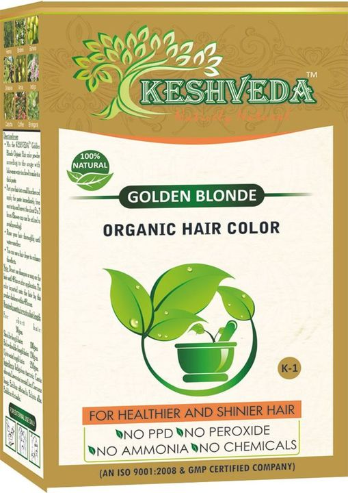 Keshveda Organic Hair Color Golden Blonde (Pack Of 3)