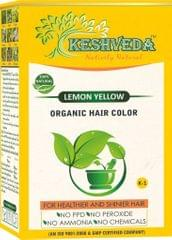 Keshveda Organic Hair Color Lemon Yellow (Pack Of 3)