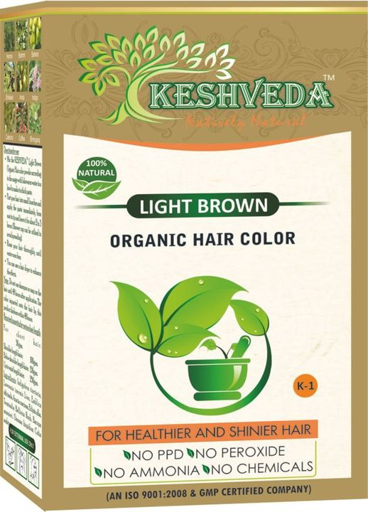 Keshveda Organic Hair Color Light Brown (Pack Of 5)