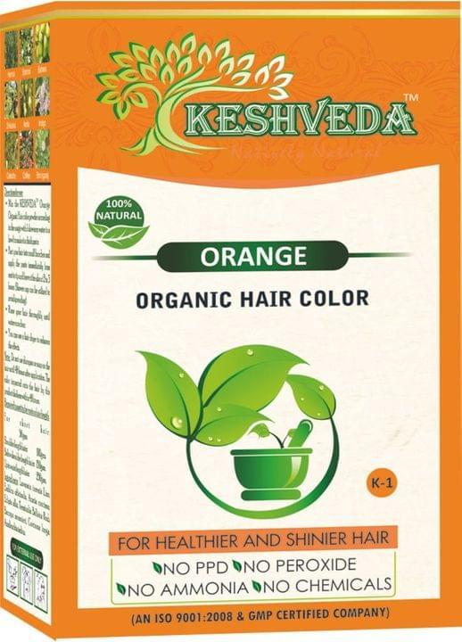 Keshveda Organic Hair Color Orange (Pack Of 5)