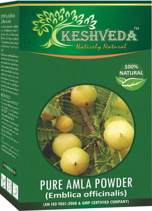 Keshveda Pure Amla Powder (Pack Of 4)