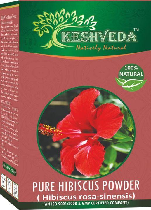 Keshveda Pure Hibiscus Powder (Pack Of 3)