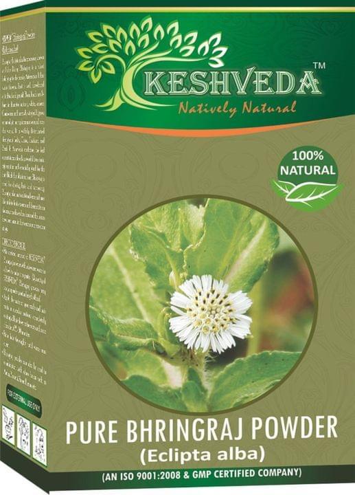 Keshveda Pure Bhringraj Powder (Pack Of 3)