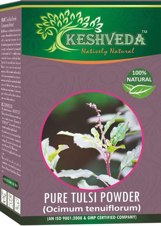 Keshveda Pure Tulsi Powder (Pack Of 3)