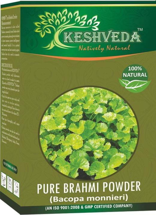 Keshveda Pure Brahmi Powder (Pack Of 3)