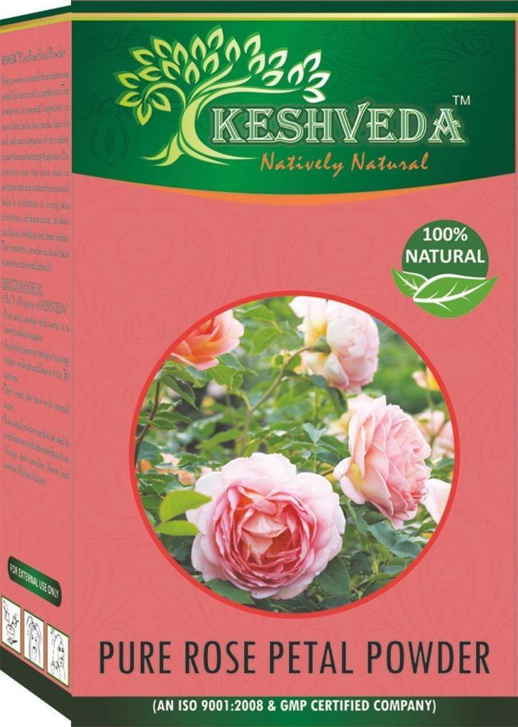 Keshveda Herbal Rose Petal Powder (Pack Of 3)
