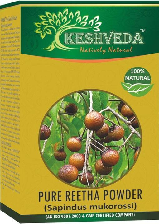 Keshveda Pure Reetha Powder (Pack Of 3)