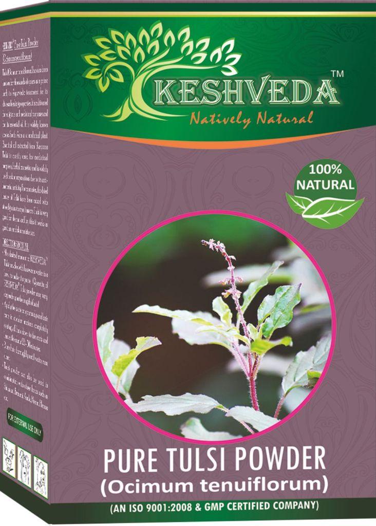 Keshveda Pure Tulsi Powder (Pack Of 3)
