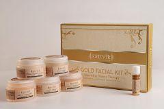Sattvik Organics Gold Facial Kit, 410Gm