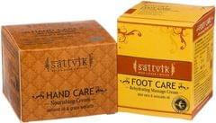 Sattvik Organics Feather Soft Hand And Foot Cream (Pack Of 2)
