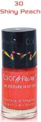 Color Fever Nail Gloss - Shiny Peach (Set Of 4)