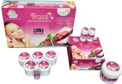 Vania Red Wine Facial Kit & Red Wine Bleach Cream (Pack of 3)