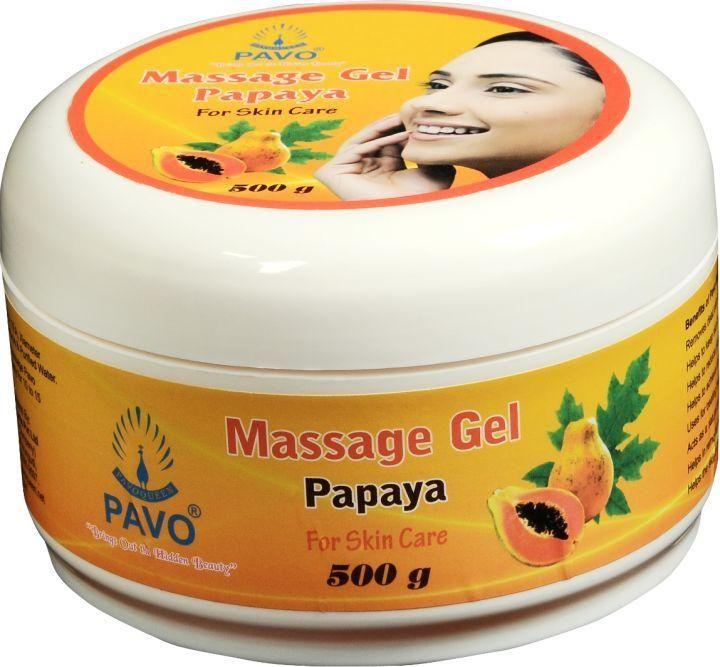 Pavo Papaya Massage Gel, 500gm (Pack of 3)