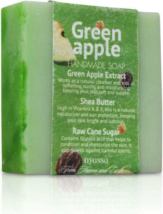 Nyassa  Green Apple  Handmade Sugar Soap (Pack Of 3)