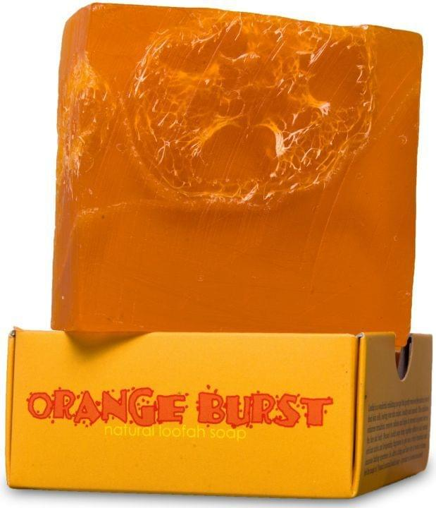 Nyassa  Orange Burst  Handmade Loofah Soap (Pack Of 3)