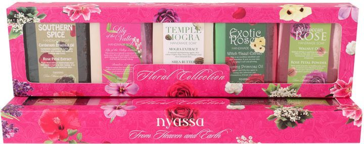 Nyassa Floral Collection 5Pc Gift Set, 750Gm