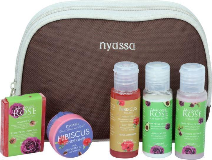 Nyassa Moroccan Rose Travel Kit, 125Gm