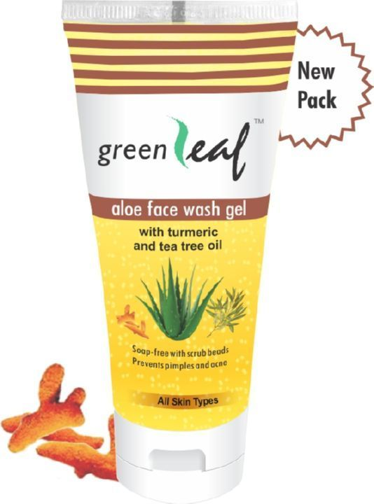 Green Leaf Aloe Face Wash Gel-Tube Packing, 60Gm (Pack of 6)