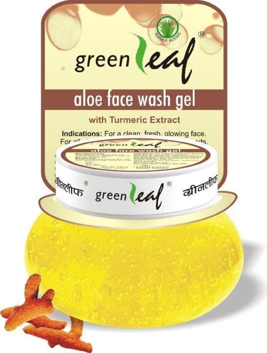 Green Leaf Aloe Face Wash Gel, 120Gm (Pack of 6)
