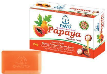 Pavo Papaya Soap (Pack Of 4)