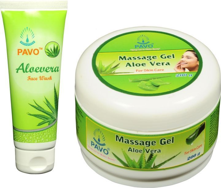Pavo Aloe Vera Face Wash  & Massage Gel Combo, 275Gm