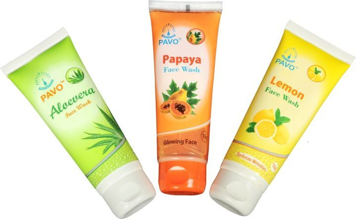 Pavo Face Wash Aloe Vera & Papaya & Lemon Combo (Pack Of 2)