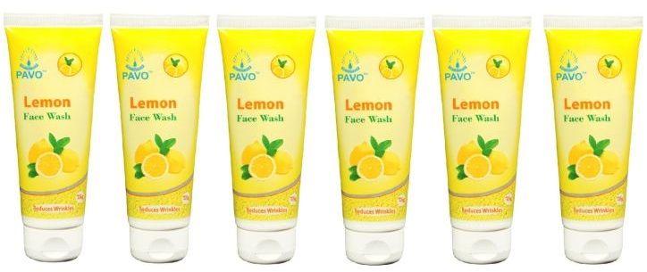 Pavo Lemon Facewash, 75Gm (Pack Of 6)