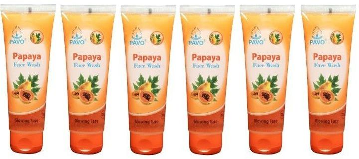 Pavo Papaya Facewash, 75Gm (Pack Of 6)