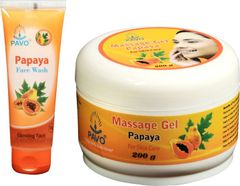 Pavo Papaya Face Wash &  Massge Gel Combo, 275Gm