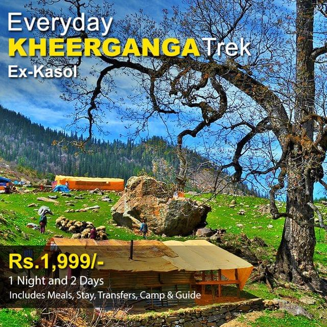 Trek to Kheerganga - 1 Night & 2 Days