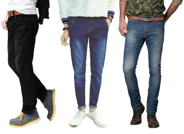 London Looks Mens Combo of 3 Strechable FASHION DENIM JEANS Combo