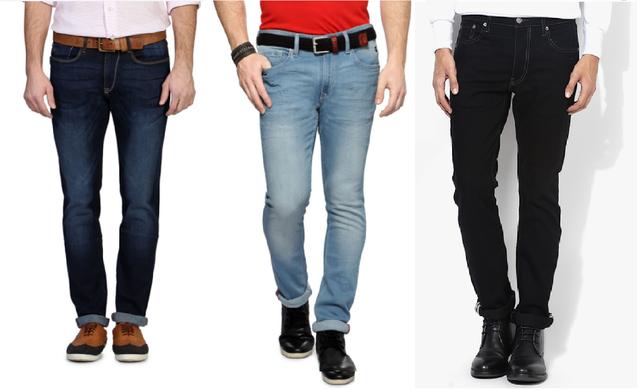 London Looks Mens Combo of 3 strechable fashion comfort fit denim jeans comboss