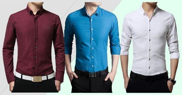 COMBO OF 3 PREMIUM SOLID SHIRTS