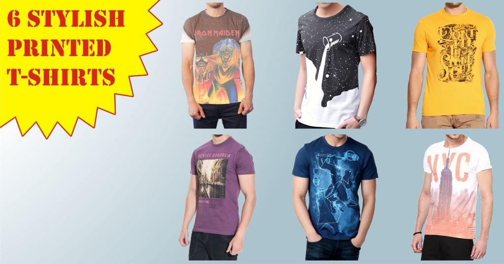 Combo of 6 stylish T-shirts