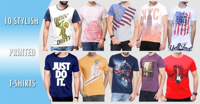 10 Stylish T-Shirts Combo