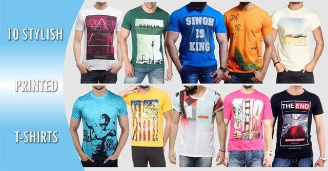 combo of 10 printed T-Shirts