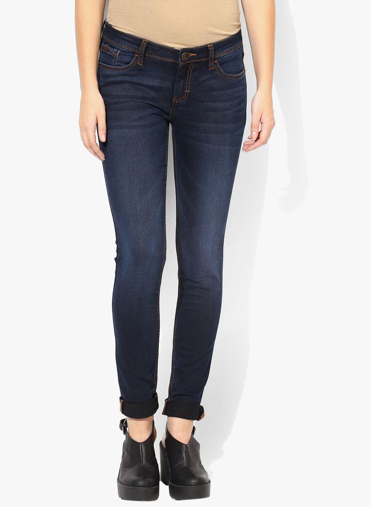 London Looks Dark Blue Denim Jeans